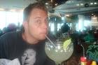 Brady Drinking Margarita