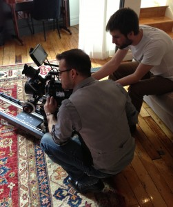 Michael Cioni and Rob Loughlin on F55 test set - Mar 2013