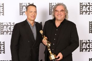 Tom Hanks with ACE Golden Eddie Filmmaker of the Year honoree, P