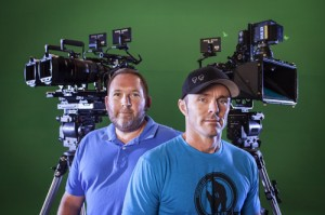 L-R: Greg Strause and operations manager John Duke DuQuesnay at Hydraulx Filmz.