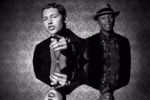 "Cris Cab featuring Pharrell Williams ""Liar Liar."""