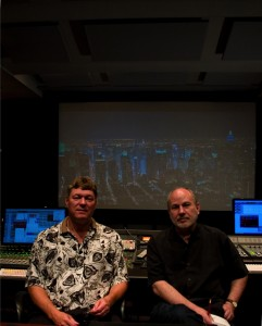 Ken Hahn and Bill Marino  on their digital cinema stage.