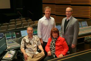 NBCUniversal StudioPost (standing-Jon Taylor, Andrew DeCristofaro (sitting) Frank Montano, Becky Sullivan