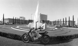 Evel Knivell pre jump at Caesars Palace 12/28/67