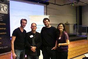From the Gone Girl event: Tyler Nelson, Woody Woodhall, Jeff Brue and Wendy Woodhall.