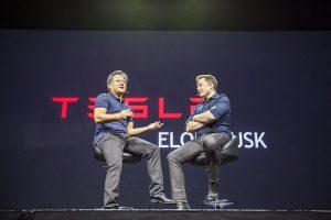 Nvidia's Jen-Hsun and Tesla's Elon Musk.