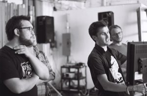 Director Nick Snyder, right.