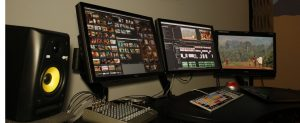 One of the edit rooms