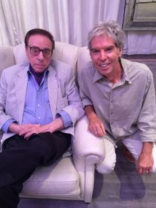 Peter Bogdanovich and writer Iain Blair during their recent meeting in LA.