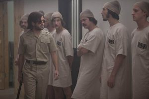 THE STANFORD PRISON EXPERIMENT Michael Angarano & Tye Sheridan & Johnny Simmons & Ezra Miller & Chris Sheffield Photo by Jas Shelton (2)