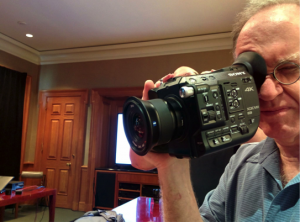The FS5, without top handle or LCD viewfinder