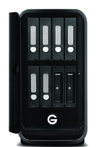 G-SPEEDstudioXL-evSeries-BayAdapters-FrontOpen-with-evDrives-HiRes