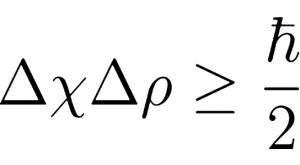 The Heisenberg uncertainty principle equation.