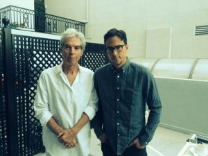 Writer Iain Blair and filmmaker Cary Fukunaga.