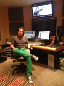 Diego Jimenez in one of Hobo's Pro Tools suites.