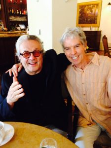 George Miller and writer Iain Blair