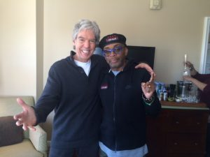 Writer Iain Blair and Spike Lee.