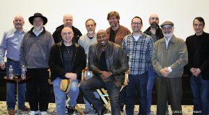 Director Antoine Fuqua with his Southpaw sound crew.