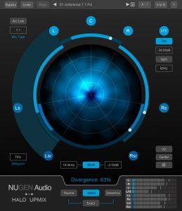 NUGEN Audio Halo Upmix - 7_1 main view