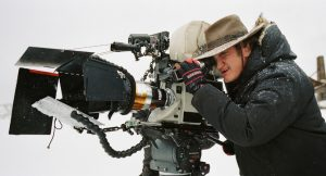 Director Quentin Tarantino: He wanted to use the blizzard as one of the film's voices.