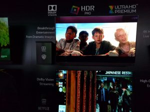 Dolby's HDR offering at CES.