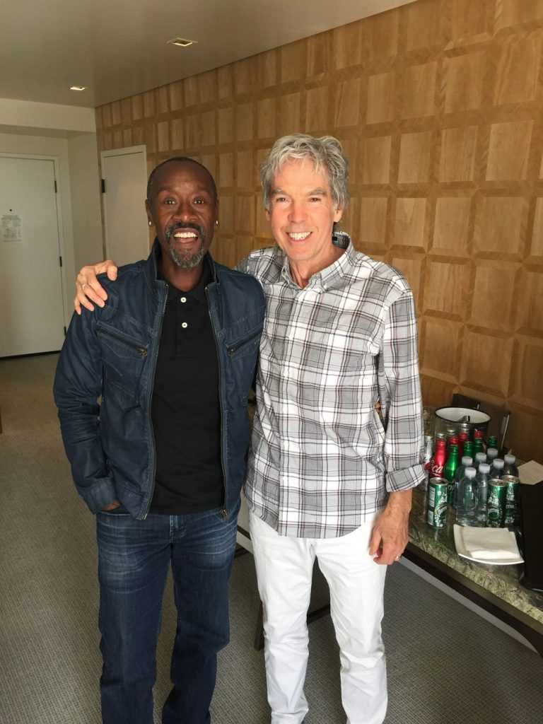 Don Cheadle and Iain Blair