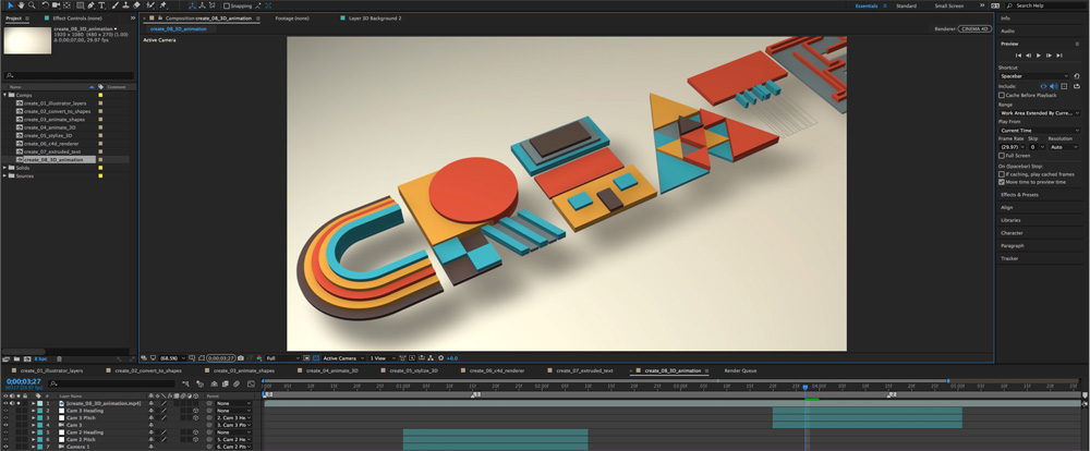 After Effects C4D Render